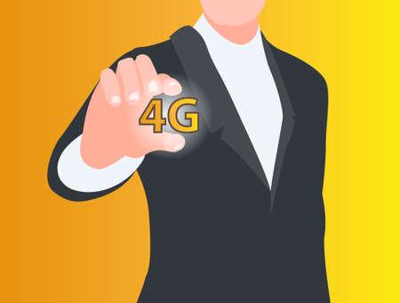 4g: 4G connection concept