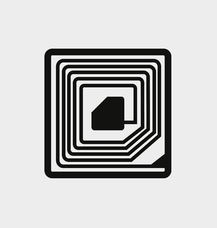 magnetic: magnetic alarm sticker Illustration
