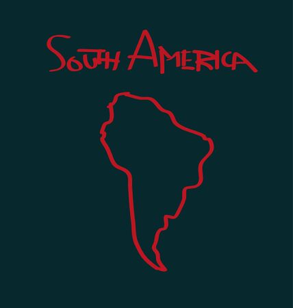 south america: south america Illustration