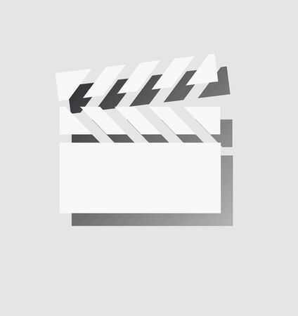 seventh: a clapperboard icon with shadow Illustration