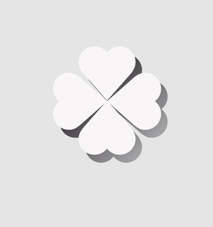 clover icon with shadow