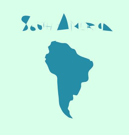 south  america: la elaboración de América del Sur Foto de archivo