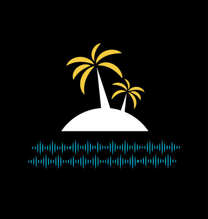 night: island night icon Illustration
