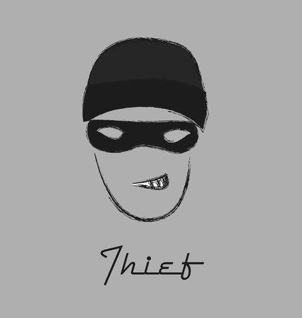 incognito: thief icon Illustration