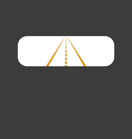 berm: rear-view mirror Illustration