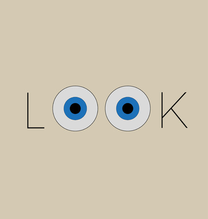 look at: look Illustration