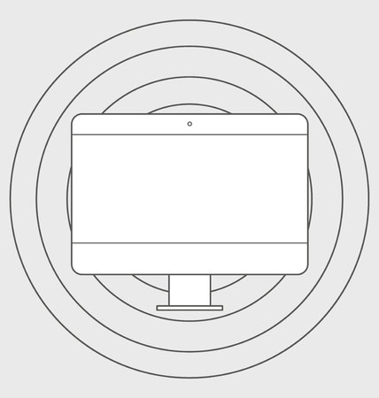 responsive: responsive web design icon Illustration