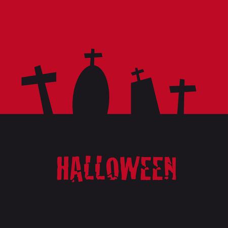 halloween graves Ilustrace