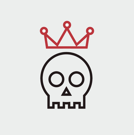 skull with crown: skull with crown