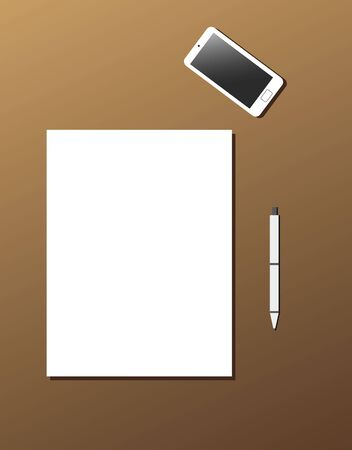 Template sheet of paper Ilustrace