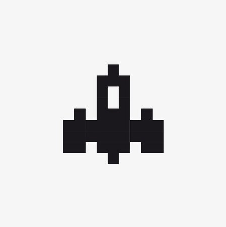 vector pixel space ship