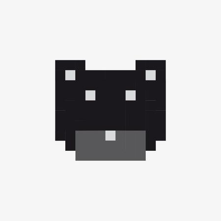 vector pixel polar bear Ilustrace