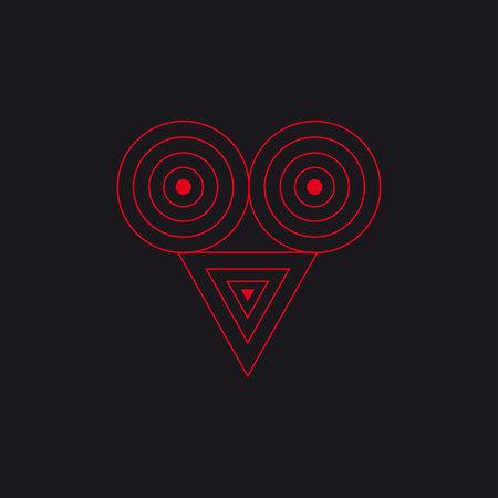 Geometric heart figure Ilustrace