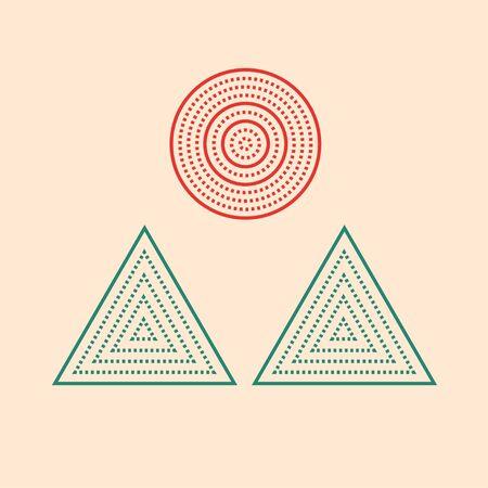 minimalist landscape Ilustrace