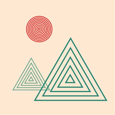 beings: minimalist landscape Illustration