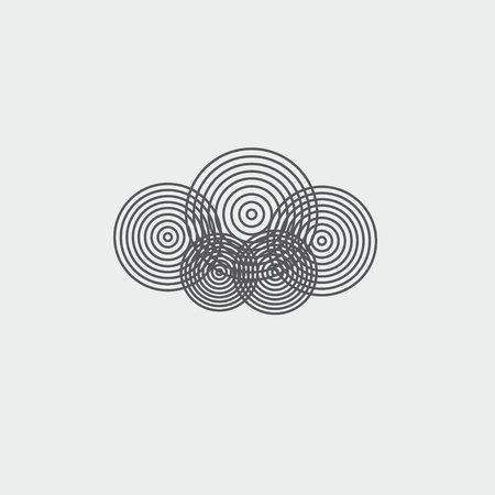 geometric cloud Ilustrace