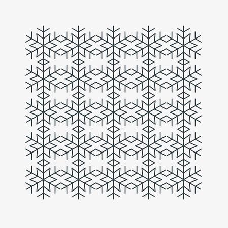 Snow icon pattern.