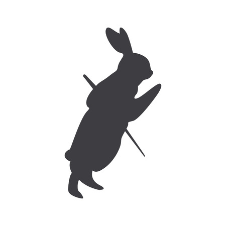 Silhouette of a rabbit