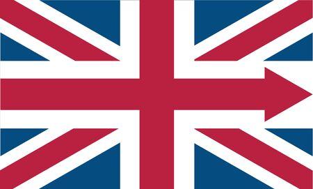 English flag icon with arrow 向量圖像