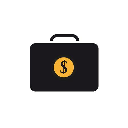 Suitcase with money icon