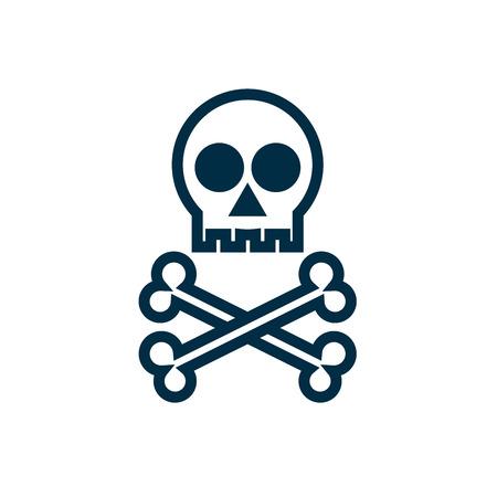 Skull with bones icon