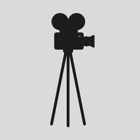 movie camera silhouette Vector Illustration