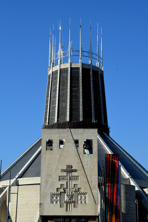 mersey: Liverpool Metropolitan Cathedral, officially known as the Metropolitan Cathedral of Christ the King, is the seat of the Archbishop of Liverpool and the mother church of the Roman Catholic Archdiocese of Liverpool in Liverpool, England.