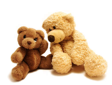 soft toy:   teddy-bear whispering secrets to the other one