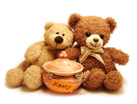 Romantic  teddy-bears & honey