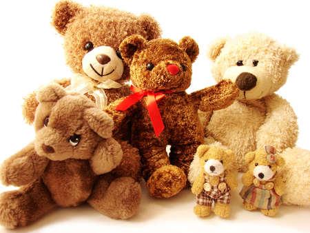 Big family of teddy bears