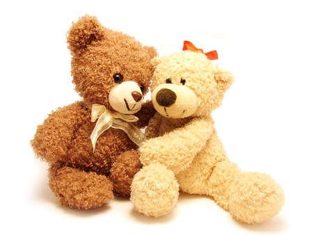 osos de peluche: osos rom�nticos de peluche Foto de archivo