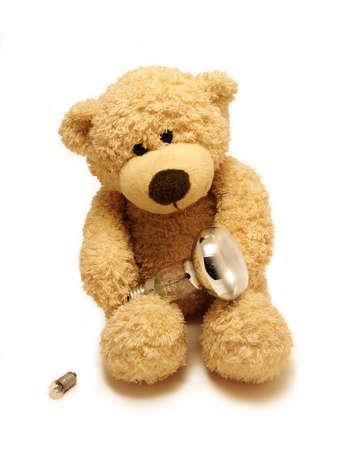 jovial:        teddy-bear & bulbs                         Stock Photo