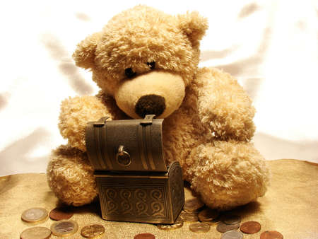 euromoney:        teddy-bear&savings                         Stock Photo