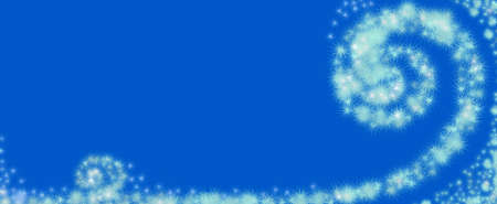 whirlwind of abstract snowflakes in a blue background Stock Photo - 8573093
