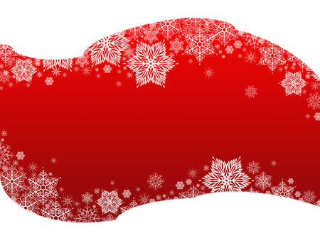 winter background red&snowflakes Imagens