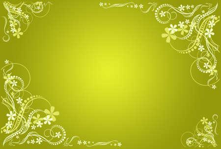 floral green  artistic frame