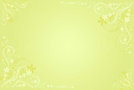 pale ocher: floral ocher artistic frame