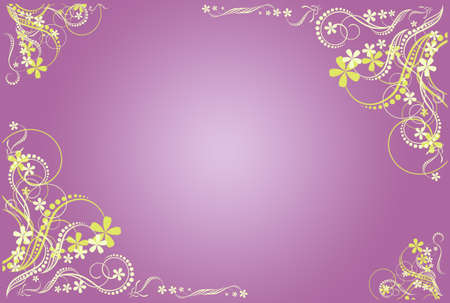 floral lilac blank photo
