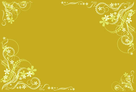 floral ocher artistic blank