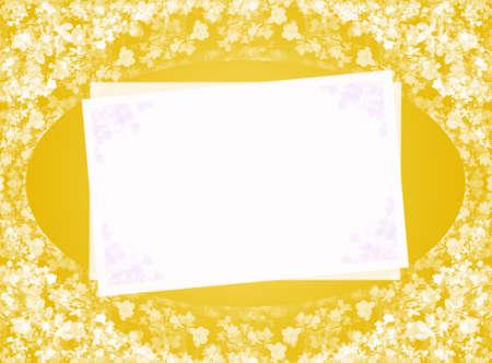 invitation blank yellow