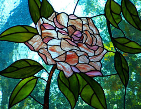 Rose Stained Glass Stock Photo - 2166855