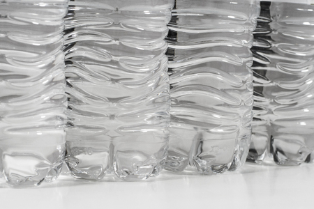 Plastic water bottles. Recycle, water, environment concept