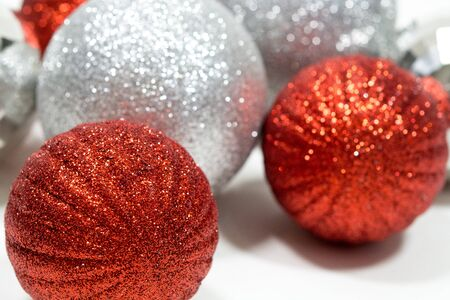 Holiday Christmas Ornaments; Glittery ornaments; holiday decorations;