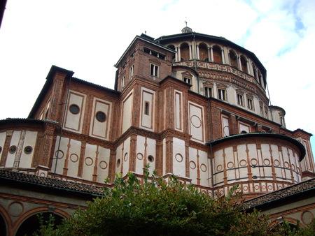 leonardo da vinci: Santa Maria delle Grazie, Milan Italy Stock Photo