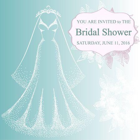 Illustration der hübschen Brautkleid