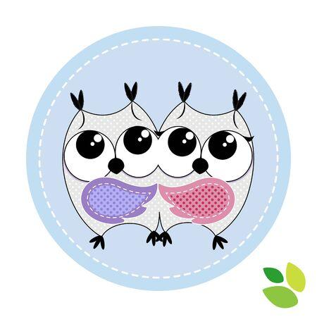 cute couple: cute couple of owls