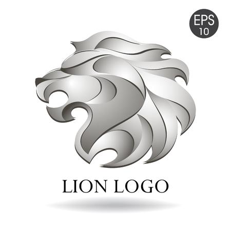 logotipo de la cabeza del león del vector para su diseño
