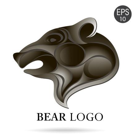 Vector Bear head logo for your design