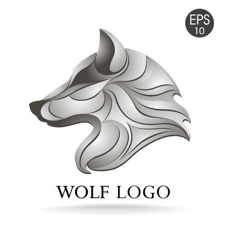 Vector wolfshoofd logo voor uw ontwerp Stockfoto - 61666220