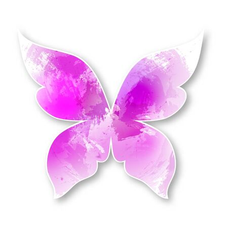 butterfly isolated: Isolated Watercolor butterfly. Paper butterfly for your design